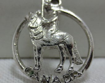 CANADIAN MOUNTED POLICE  Sterling Silver Charm Disc
