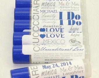 Wedding Favor- Personalized Label- Lip Balms