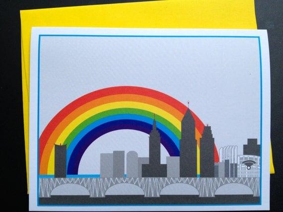 Cleveland rainbow card