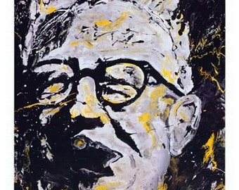 The Chief,  Pittsburgh Steelers, Art Rooney Print by Pittsburgh Artist Johno