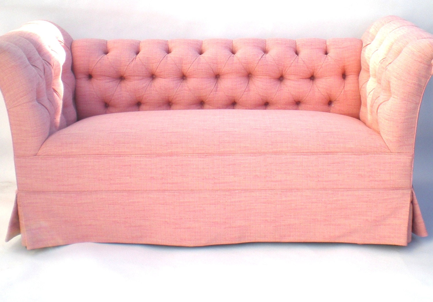 Reserved Pink Loveseat Chaise Tufted Back Sofa