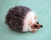 Happy Hedgehog, Hedgie, Hedgepig, Needle Felted, Collectable, Critter