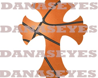 Digital download Basketball Prayer Cross for printing and making crafts
