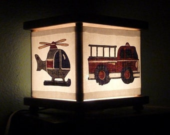 Fire Truck Night Light Police Ambulance Helicopter Decor