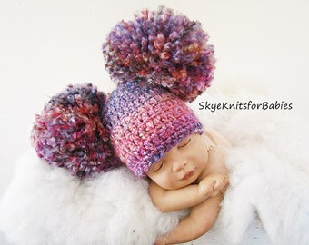 Baby Girl Beanie, Crochet Baby Hat, Baby Boy Hat, Newborn Beanie, Pom Pom Hat, Baby Newborn Hat, Baby Girl Hat, Newborn Baby Hat Many Colors