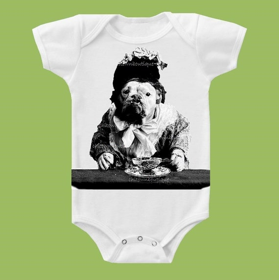 English Bulldog, The Queen, Mum Bulldog TShirt,One Piece Baby, Baby Shower gift, Tank or Tee by ChiTownBoutique.etsy