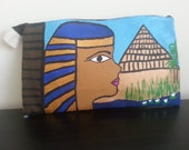 Nile Goddess-Hand  Painted Clutch