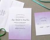 Ombre Watercolor Wedding Invitation