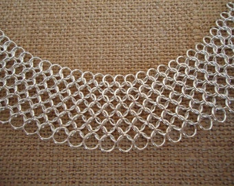 Sterling Silver Chainmail Necklace