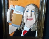 Beer Drinker's, Remake Of A Picture, Degital, Photo, Custom made 3D Clay Portrait