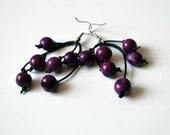 Purple  Seed Earrings -  Purple Acai Beads Earrings - Bohemian Earrings - Hippie Bohemian Jewelry - Spring Jewelry Trends
