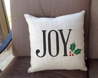 "Joy Linen Throw Pillow 16""x16""  - AH"