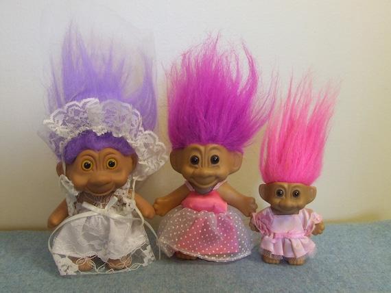 1990s Troll Dolls Troll dolls - bride bridesmaid