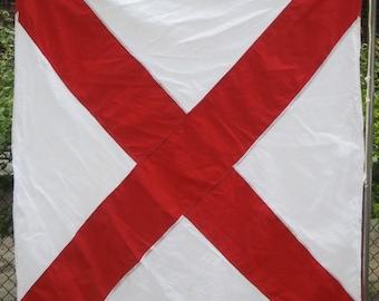 NAUTICAL SIGNAL FLAG V red X Victor