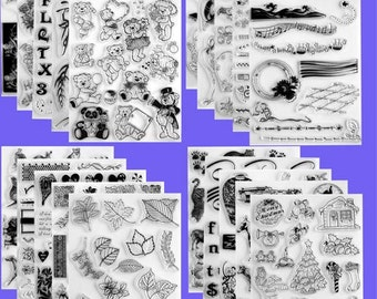 Clear Acrylic Stamp Sheet - Your Choice of Any Stamp Set - Unmounted