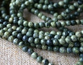 100pcs Natural Gemstone Beads Russian Serpentine 4mm 16 Inches