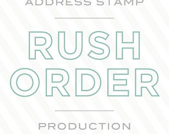 Personalized Rubber Address Stamp by Paper & Parcel - Rush Order