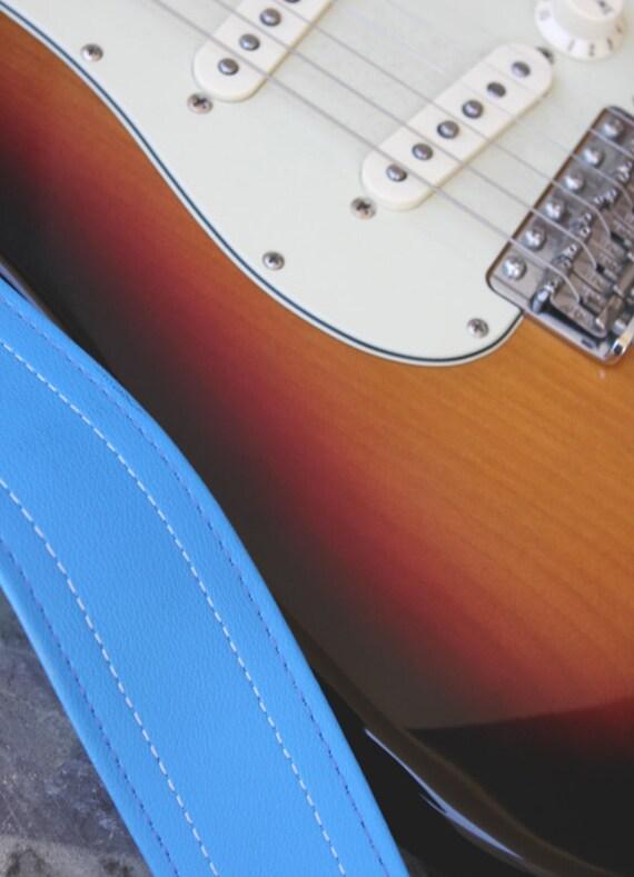 Runway Blue Luggage Guitar Strap - Vegan