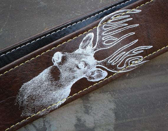 Wildlife Deer Antlers Camera Strap - Artist Series - Vegan
