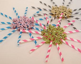 Snowflake Vintage Style Ornament Set of 3