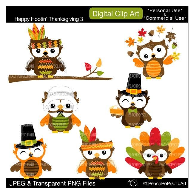 cute owl clip art clipart holiday fall autumn by ...