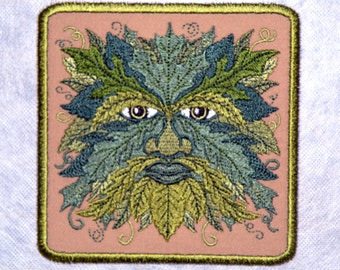 GreenMan Iron on Patch small
