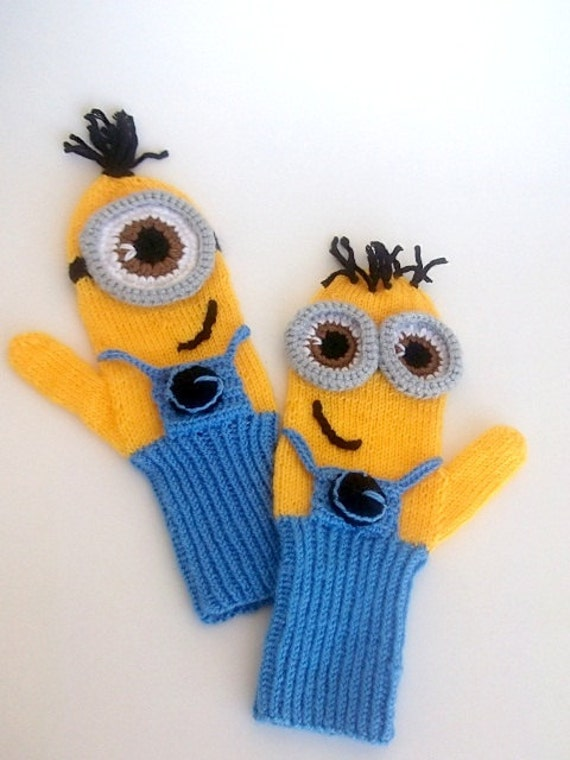 Knitted Minion Gloves Pattern images