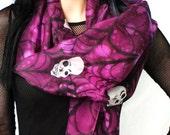 Gothic fashion skull scarf - dia de los muertos