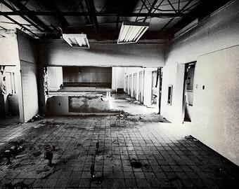 Abandoned Auditorium Forsaken Architecture 5x7 Inch Photographic Print