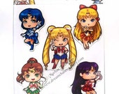 Sailormoon magnet set of 5