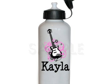 Hot Pink Guitar Water Bottle