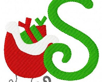 Sleigh // Christmas // Machine Embroidery Monogram Design Set, Machine Embroidery Design // Joyful Stitches