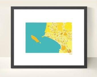 Lima Peru City Map - Original Illustration