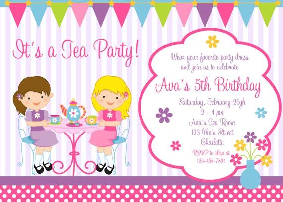 tea party birthday invitation princess tea dress up. Black Bedroom Furniture Sets. Home Design Ideas
