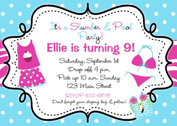 Pajama Invitations as great invitations template