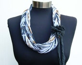 winter women loop scarf necklace-long infinity scarf-circle recycle fashion-fabric flower- ethnic pattern print fabric jewelry-african style