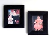 Vintage Victorian Portraits on Canvas Framed Prints - Mrs. Miner & Daughter by Orlando Bears and Eliza Pixley Lacey by Noah North - Set of 2