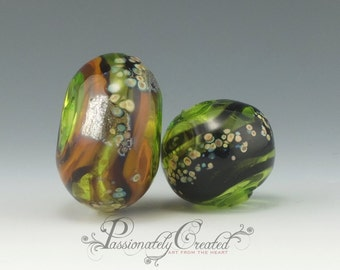 Forest Fall Hollow Glass Beads
