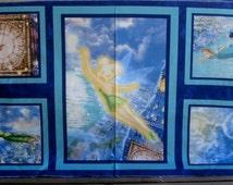 """Peter Pan Wendy Disney fabric Thomas Kinkade 24"""" panel or more"""