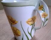 Porcelain Hand Painted Modern Style Mug