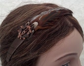 Walnut Feathered Headband