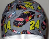 Jeff Gordon # 24 Skull Cap, NASCAR,Chemo,Hair Loss,Hats,Head Wrap,Biker,Motorcycle,Men,Women,Kids,Races,Liner,Dupont,Chevy
