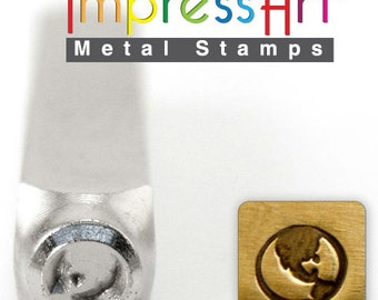 Earth Metal Stamp ImpressArt- 6  mm  Metal Design Stamp-Perfect for Your Hand Stamping Needs-Steel Stamps