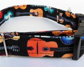 Guitar Adjustable Dog Collar - Made to Order-