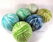 Wool Dryer Balls - Crazy Mixed Up Boys - Set of 6 Eco Friendly - Can be Scented or Unscented