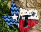 Texas Personalized Door Hanger