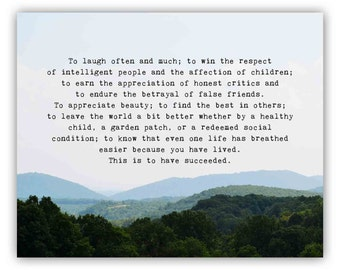 Inspirational Quote about life, Blue Ridge Mountains Landscape Photography