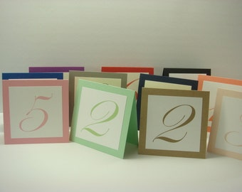 Wedding Table Numbers Wedding Reception Decor