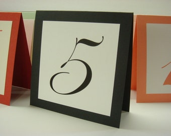 Wedding Table Numbers Tented Layered Design Wedding Reception Table Decor all of my Colors Available