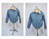 class 5 vintage down jacket puffy jacket goose down mens size medium